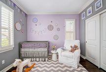 Purple Gray Nursery Ideas / Lavender and grey nursery inspiration. Home decor, purple and grey nurseries, nursery design, nursery inspo, nursery design inspiration, lavender nursery