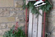 Décorations extérieures Noël antiquités