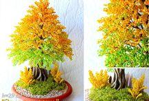 Деревья цветы бисер