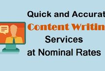 Quick and Accurate Content Writing Services at Nominal Rates