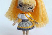 Háčkované hračky-panenky, postavičky