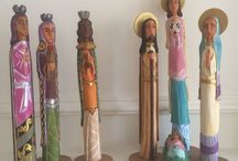 Nativity set, creches, Holy Family 2015 / by Teocalli Collections