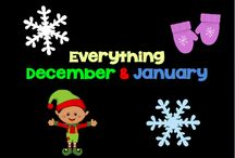 Everything December & January / This is a board for themes and holidays that happen in December and January. Winter, Christmas, Hanukah, MLK Day are all wonderful. Pin away and remember to sprinkle in ideas among products.