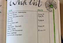 bullet journal wish list