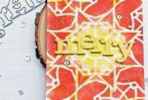 My cardmaking: Stencils