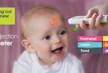 6-in-1 Projection Thermometer / Introducing the NEW and ONLY 6-in-1 Projection thermometer that will be released NEXT MONTH  It is non-contact, silent and easy to use, making it perfect and suitable for the whole family. It can be used to measure your child's temperature without contact - HOW COOL! grin emoticon     It can also be used to measured bath water, milk, room, food, skin and body temperature. This thermometer makes taking a reading simple with guaranteed accuracy, with its unique built in 'aiming' system.