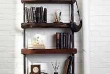 DIY Industrial & Wood Bookcase