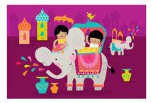 Illustrations / by Holi-Hai, la boutique aux couleurs de l'Inde
