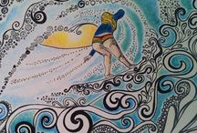 Flagler Surf Original Art / Original art created in Flagler Beach, Fl