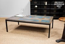 Déco indus' pour votre salon / Optez pour une belle déco au style vintage PIB pour meubler et décorer votre salon. Découvrez le charme unique du meuble vintage qui habillera et offrira une ambiance 100% industrielle.