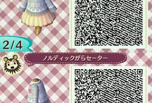 ACNL   QR   Clothes / Everything here is dresses, shirts and outfits...
