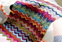 Knitted ripple blankets