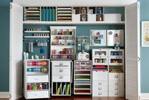 Conservatory Workroom / Ideas for creating a space-saving useful environment for work, crafting and relaxing