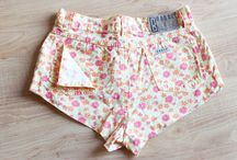 Shorts / Cut-off shorts come in so many colours and prints. Flowers, hearts, stripes - you name it.