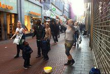 straatjutten / 25 foto's in Amsterdam