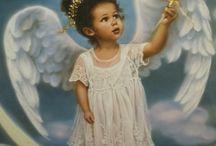 diy angel kids paintings
