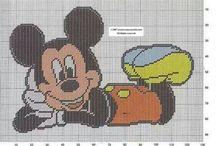 Mickey og venner broderi