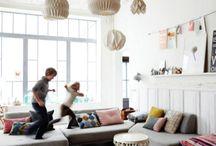 Family livingroom kitchen