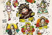 Drag race inspired tattoos