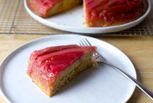Rubarb up sidedown cake