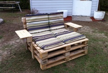 Pallet Creations / You can make so many things out of pallets and here are some idea's.
