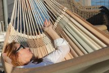 Dunes Hammock Collection / Our Dunes hammocks are made of high grade cotton and have macrame between cloth and tension ropes. Available in the sized Large and XL
