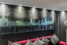 Etched and Sandblasted Glass