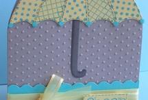 Cards with umbrellas