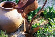 Rustic garden art