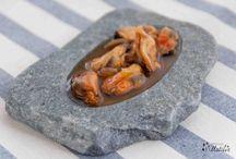 Menaje especial, piedra, pizarra, krion