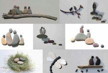 billeder lavet af sten
