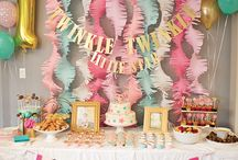Twinkle Little Star Birthday Party / Ideas for a 1 year old's 'Twinkle Twinkle Little Star' themed birthday party.