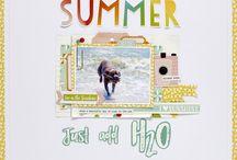 Summer scrapbook layout ideas