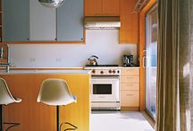 retro modern fit out - kitchen