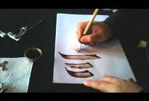 Calligraphy nibs & materials