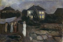 Edvard Munch / 1863 - 1944 Edvard Munch was a Norwegian painter and printmaker whose intensely evocative treatment of psychological themes built upon some of the main tenets of late 19th-century Symbolism and greatly influenced German Expressionism in the early 20th century