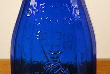 Old bottles and vintage glass