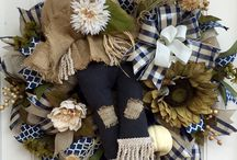 Wreaths and wall hangers