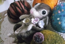 handmade by me / handmade by myself ...using needle felting,fabric,paper,clay,mixed media or other