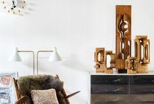 mid century furniture and rooms