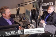 """Raising the Bar / Guest Attorney Don Marcari talks with Randy Nordstrom Host of Raising the Bar. The podcast videos are broken down by topic. Marcari talks about his experience as a personal injury attorney, talks with callers about their legal issues, discusses his """"interesting"""" cases and tells Nordstrom about his case that was turned into a major motion picture, A Few Good Men."""