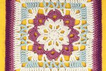 quadrados crochet