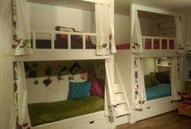 детская girls room / Детская для трех сестер и их гостей. Room for three sisters and their guests
