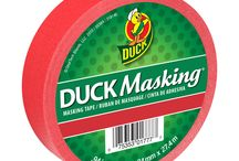 Painting & Masking Tapes / DIY paint projects and crafts are made easy with Duck® brand painting and masking tapes. The tapes are perfect for decorating for a party, painting, or color-code labeling and organizing in your home or office.