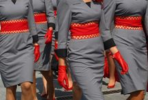 staff uniforms / Uniform inspiration for L'Arte Della Torta di Melanie Secciani