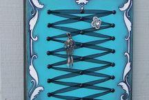 Victorian corset jewellery display.