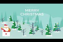 Merry Christmas Flat Vector