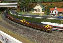 Duck Creek Mountain Railway / Built entirely by myself. Features Australian trains from various states Including narrow gauge Queensland.
