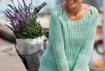 strikket dame trøje