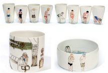 Illustration on ceramic